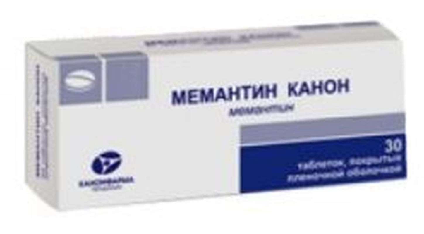 Memantine Canon 10mg 30 pills buy muscle relaxant central action online