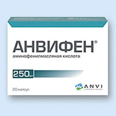 Anvifen 250mg 20 pills buy anti-oxidant, tranquilizing and anticonvulsant effects