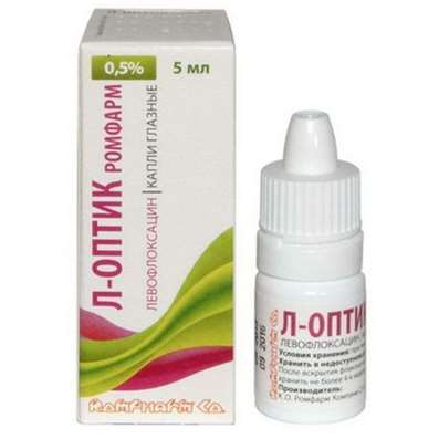 L-Optic Rompharm eye drops 0.5% 5ml buy antimicrobial agent of broad-spectrum
