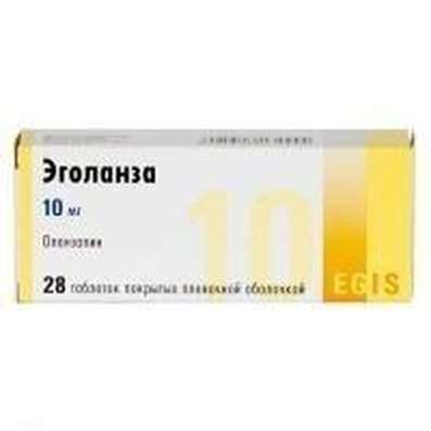 Egolanza 10mg 28 pills buy antipsychotic (neuroleptic) online