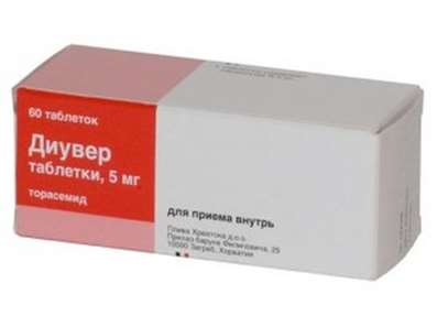 Diuver (Torasemide) 5mg 60 pills buy loop diuretic onilne